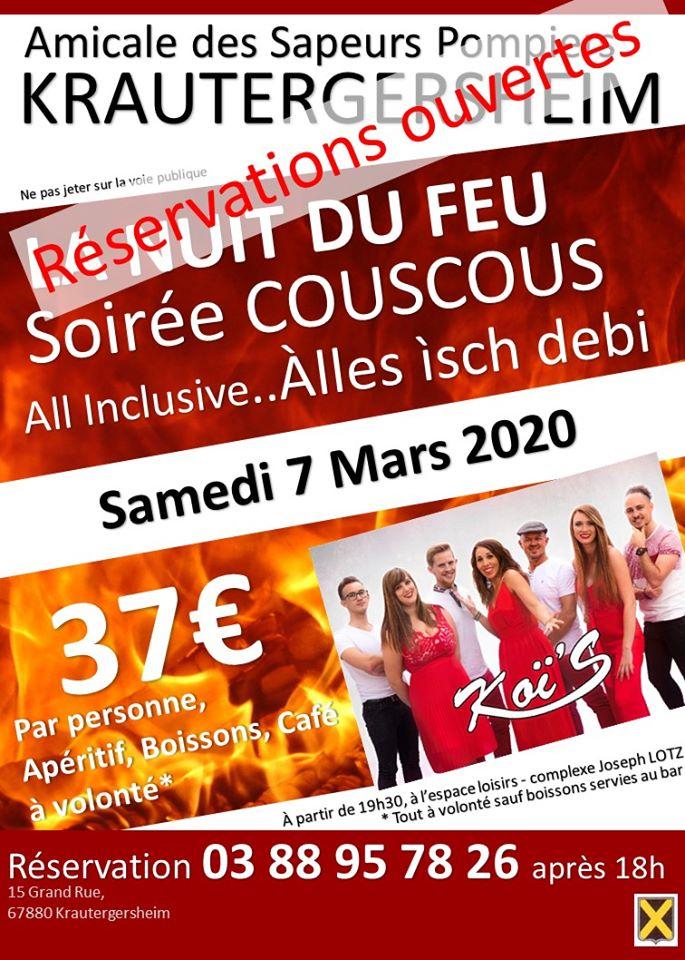 La Nuit du Feu Soirée Couscous 2020 Krautergersheim