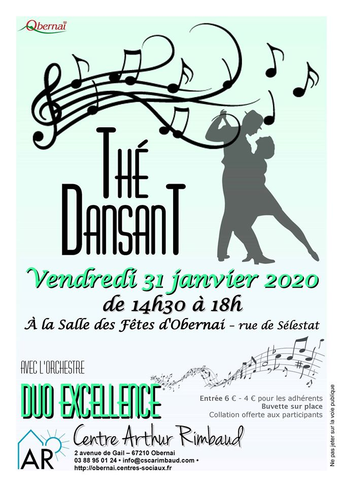 Thé dansant janvier 2020 Obernai