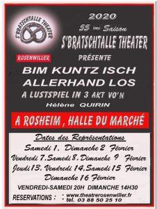 55e Comédie S'Bratschtalle Theater 2020 Rosheim Bim Kuntz isch allerhand los