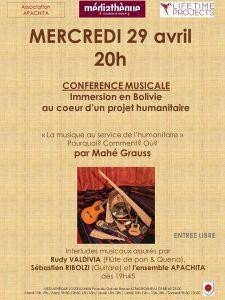 Conférence en musique Immersion en Bolivie Rosheim
